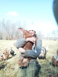20120113_cane_creek_farm_intern_erin_with_turkey